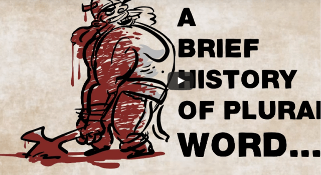 History of the plural words in English