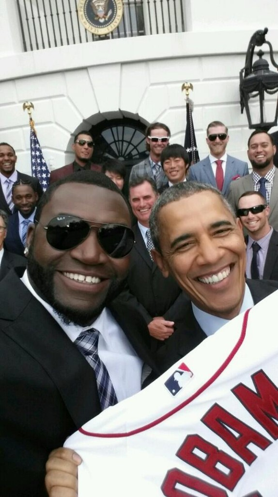 Possibly the best selfie ever (from Papi's Twitter account) I try not to lift photos from Twitter but I'm pretty sure Papi won't mind us sharing the love