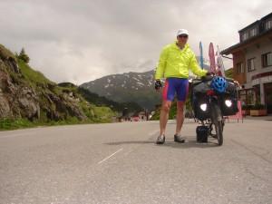Het hoogste punt van de reis op de Arlbergpass