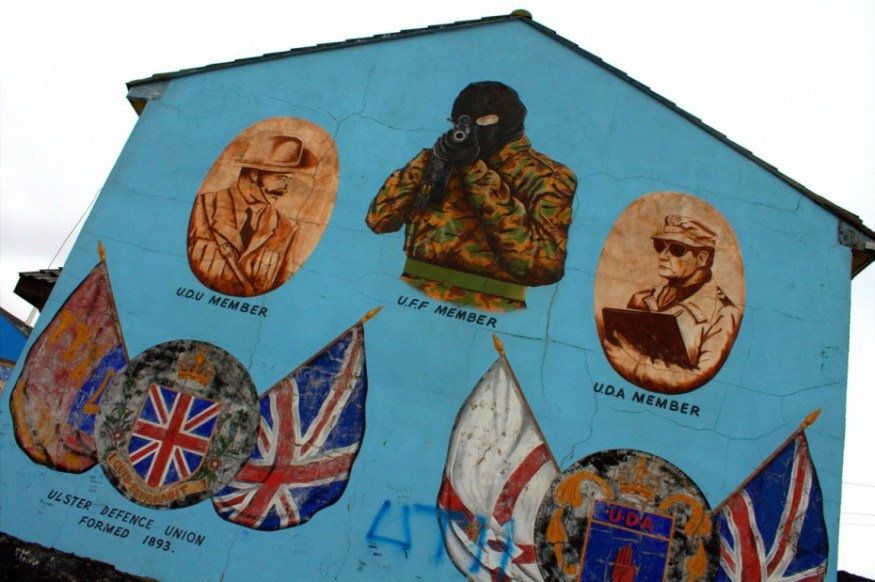 The most famous Loyalist mural in Belfast, and also the creepiest. The shooter is always pointing right at you, regardless of where you physically stand.