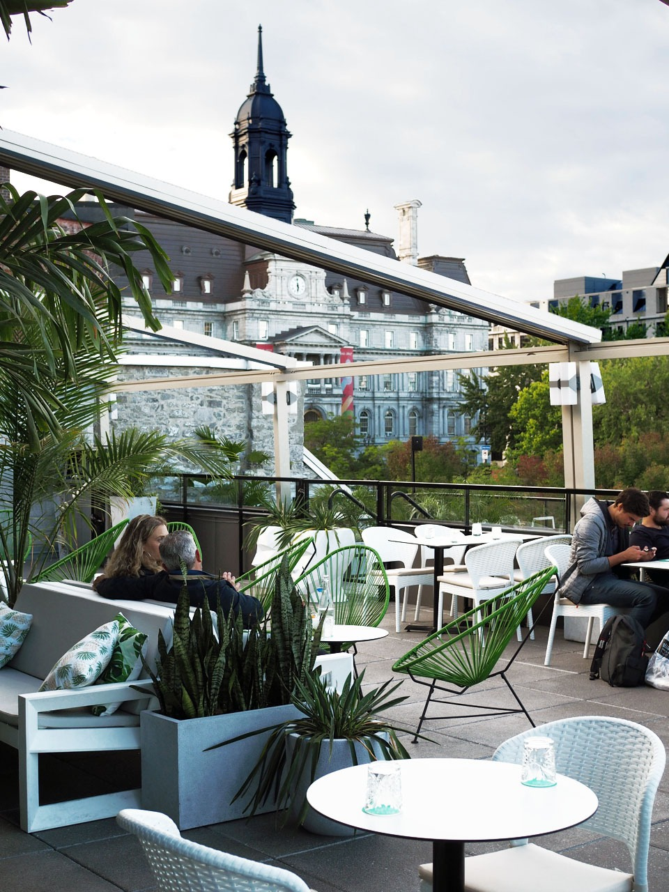 Old Montreal Restaurants -- Perché rooftop terrace -- Where to Eat in Old Montreal