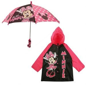 Disney Little Girls Assorted Characters Slicker and Umbrella Rainwear Set