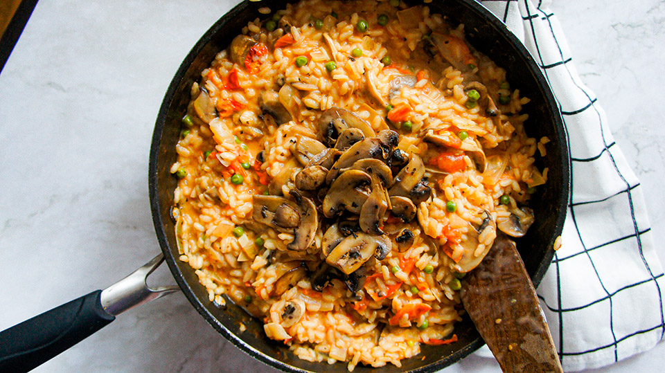 Another Close up Creamy Vegan Risotto