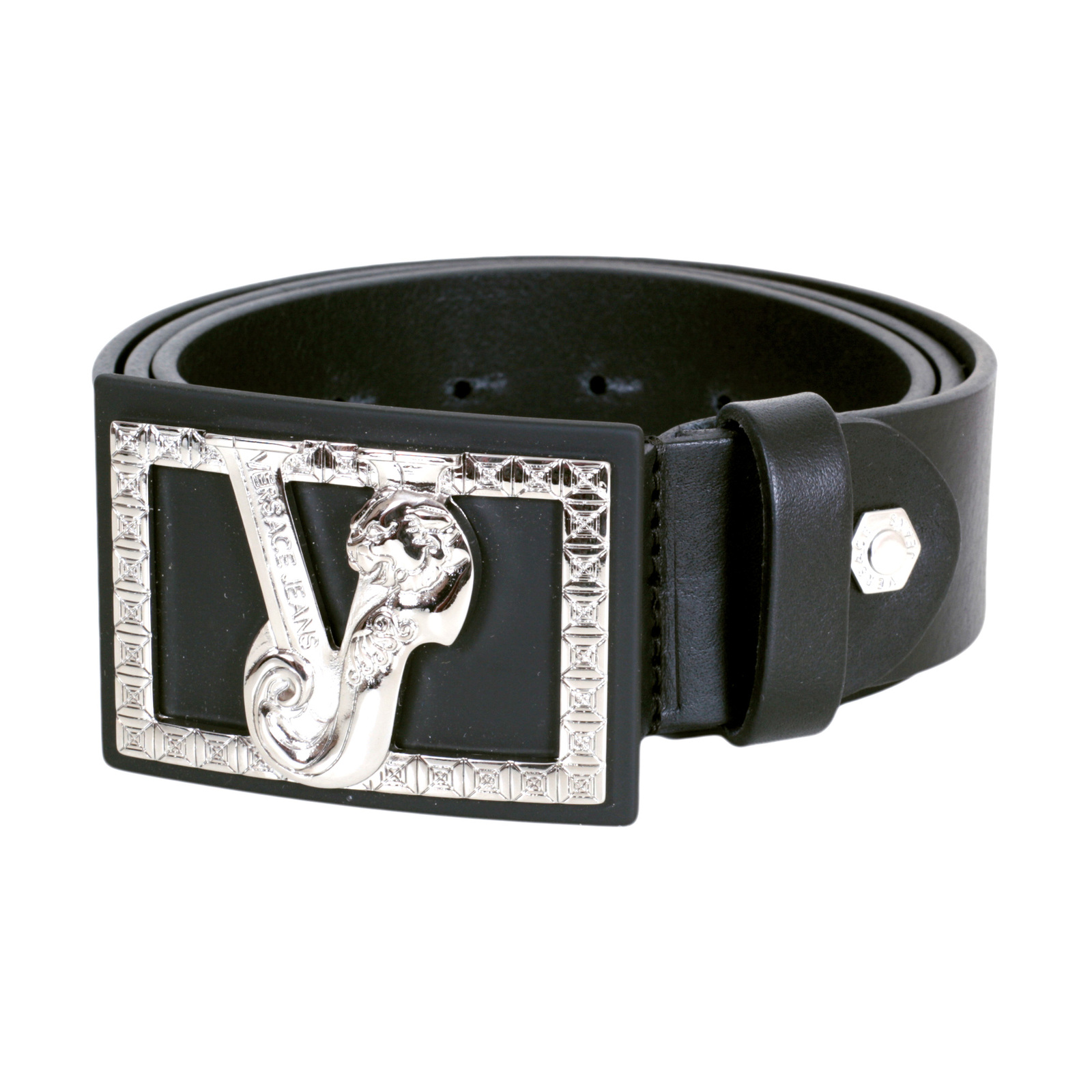 And Belt Black Red Versace