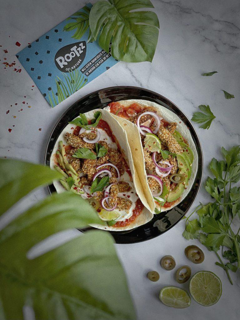 Rootzz of nature togoodtobefood sam van der sluijs nieuw product albert heijn vleesvervanger jackfruit taco hennepzaad amandelmeel makkelijk easy recept