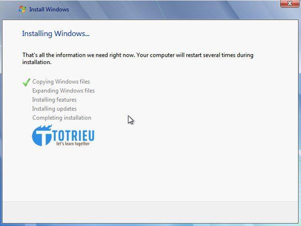 VPS Windows bắt đầu chạy cài đặt