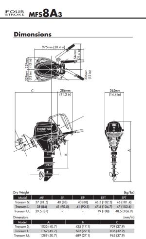 Tohatsu 8hp outboard engine