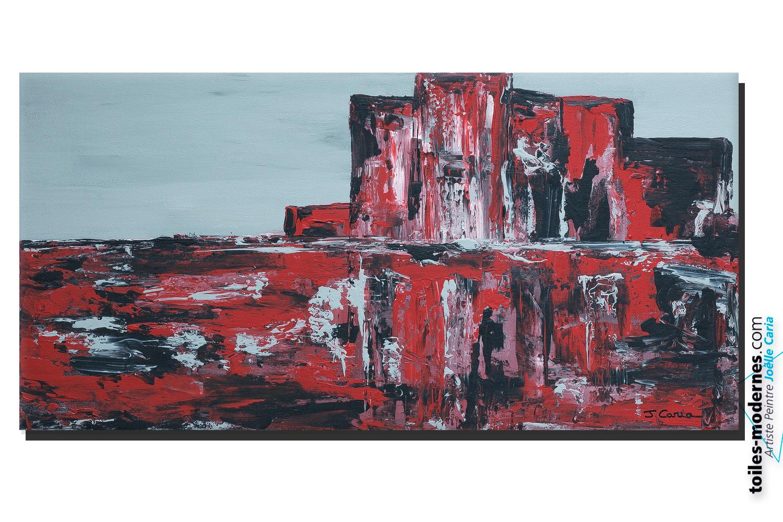 Tableau Noir Et Rouge Moderne Tableau Rouge Noir Gris