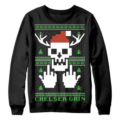 chelseagrinsweaterstains