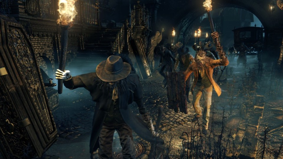 Central Yharnam's Hunter Mobs