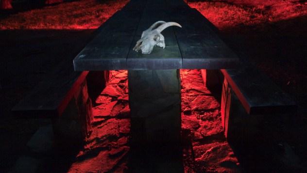 Goat skull ritual