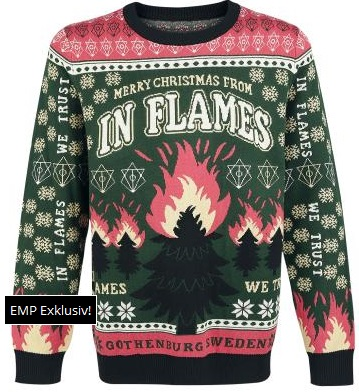 Band Ugly Christmas Sweaters.Sweater Stains A Very In Flames Christmas The Toilet Ov Hell