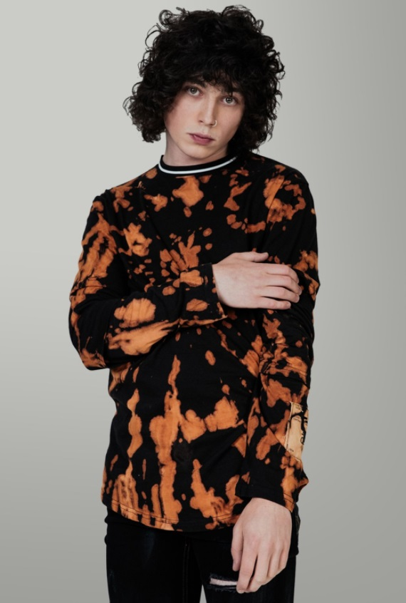 babf119effc95 This longsleeve looks like the scene of a brutal triple homicide if a  pumpkin spice latte was used as the murder weapon. This is what happens  when a ...