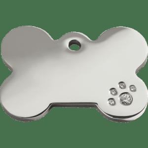 Médaille pour Chien Red Dingo Diamante Os