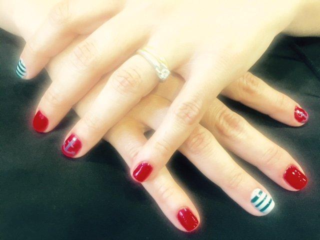 Navy nails!!!!