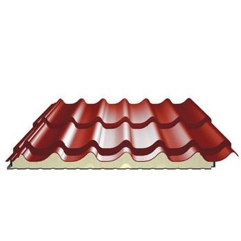 Panneau Tuile Isole Pour Couverture Ep 40 Mm Couleur Terracota Toiture Online Com