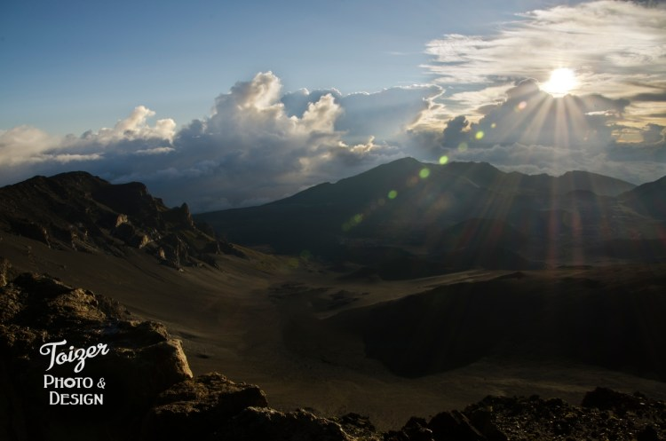 Haleakala mountain at sunrise