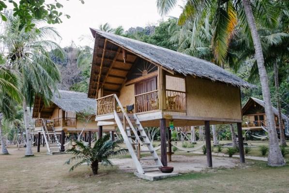Hišice v resortu na otoku Sangat, Coron/Palawan, Filipini