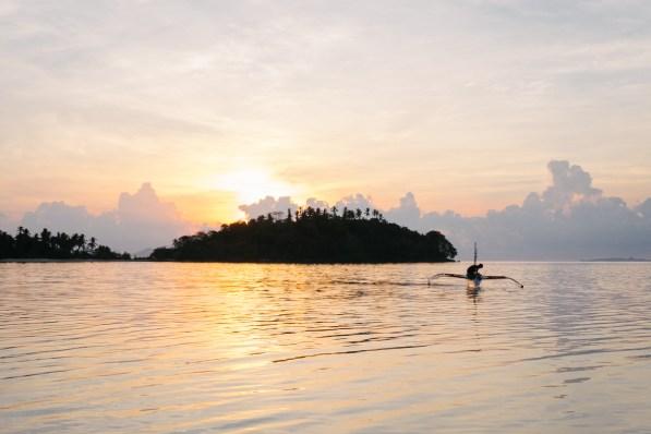 Pogled s plaže baznega tabora, Palawan, Filipini