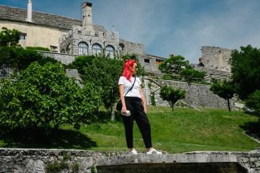 Izlet na Kras, pogled na Štanjel s Ferrarijevega vrta