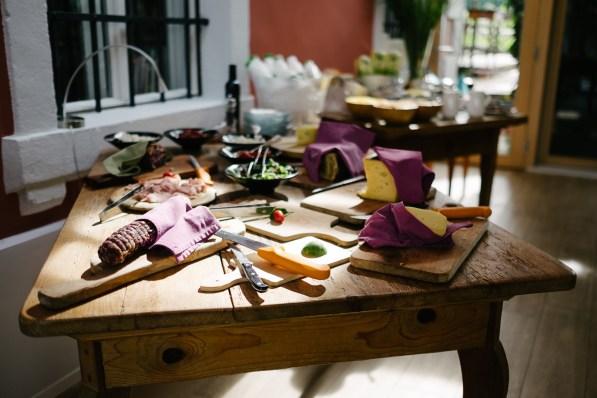 Samopostrežni zajtrk v Hiši Franko, Kobarid