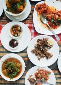 Mjanmarska kulinarika, vege kosilo
