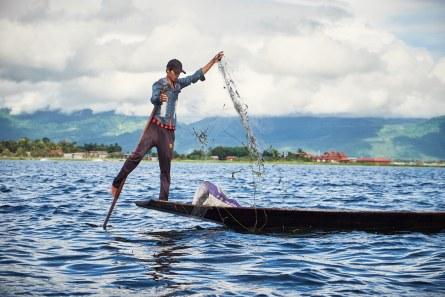 Pravi ribič, jezero Inle, Mjanmar