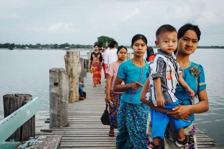 Most U Bein, Mandalay, Mjanmar