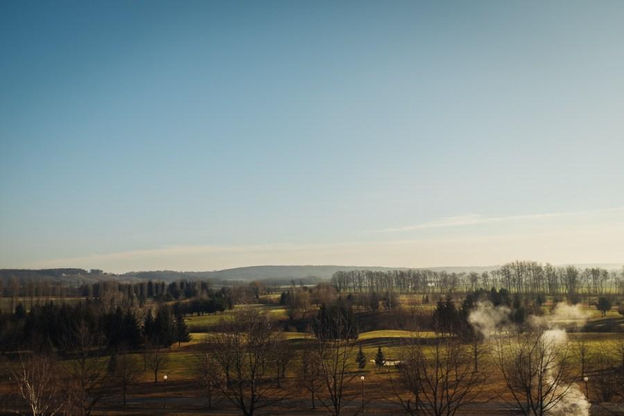 Razgled na prekmursko pokrajino iz Hotela Ajda v Termah 3000 - Moravske Toplice