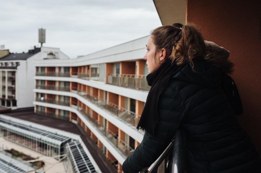 Neža na balkonu Hotela Livada v Termah 3000 - Moravske Toplice