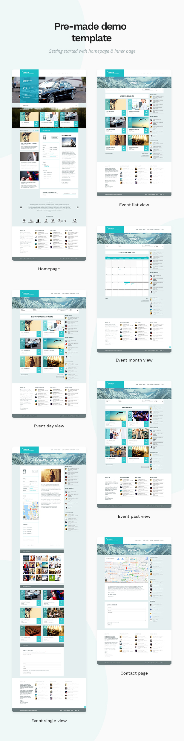 Eventica - Event Calendar & Ecommerce WordPress Theme - 1