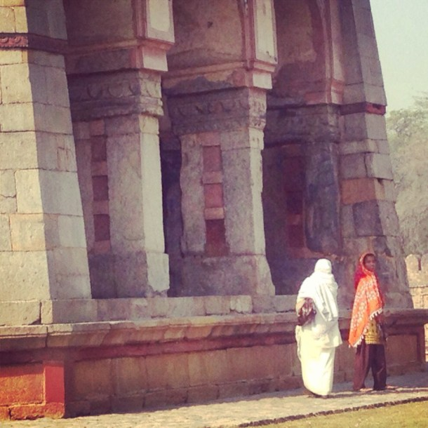 Ladies at Humayan's Tomb New Delhi India