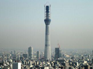 Tokyo Sky Tree at nearly 500 meters