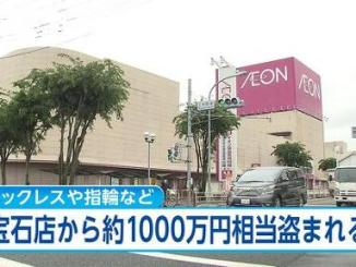 Outside the Aeon outlet in Koga City