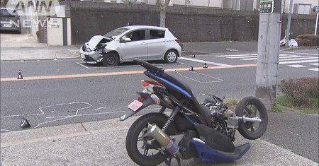 The scene of the accident in Machida