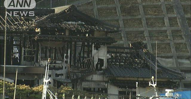 Police found the bodies of a man and his daughter with head injuries in their burned-out home in Tsushima City
