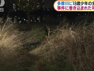 The nude corpse of an 18-year-old boy was found in the Tama River earlier this month