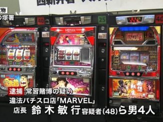 Police seized 44 machines from parlor Marvel in Ueno