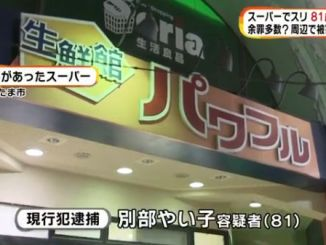 Saitama police arrested an 82-year-old woman suspected in a series of pickpocketing incidents