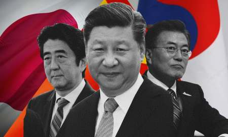 Leaders of Japan China South Korea