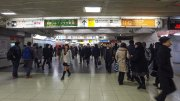 Walking around in Shinjuku Station