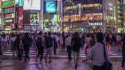 Walking around Shibuya by night