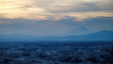 Cloudy sunset over Fujisan