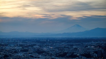 Cloudy sunset over Fujisan