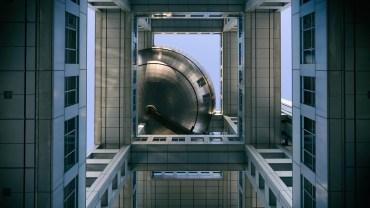 Odaiba's gigantic titanium sphere