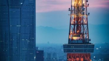 Urban sunset colors