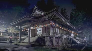 Koyasan's temples at night