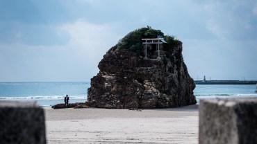 Izumo beach's holy rock