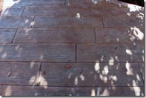 アプローチスタンプコンクリート木目
