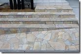 自然石貼り階段